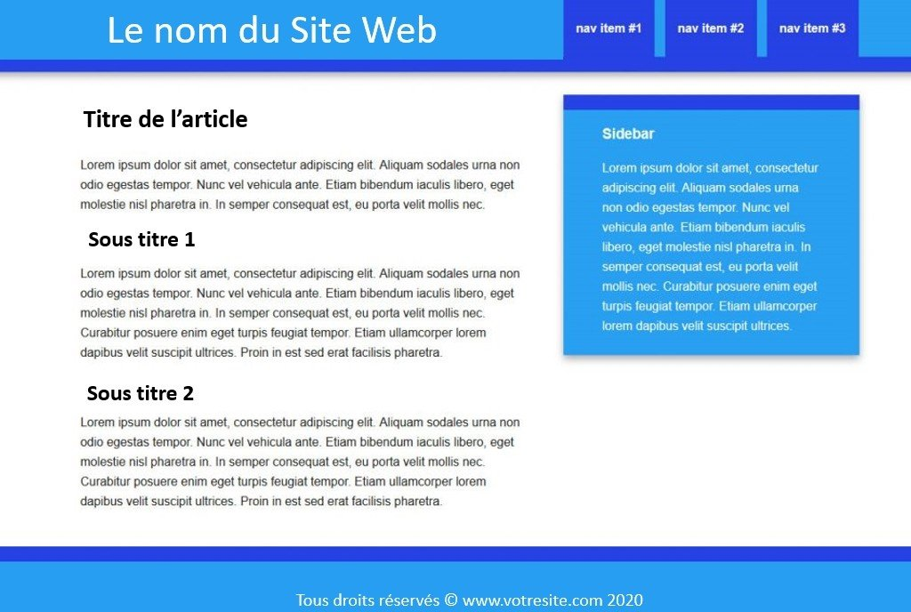 Exemple de page avec design de base