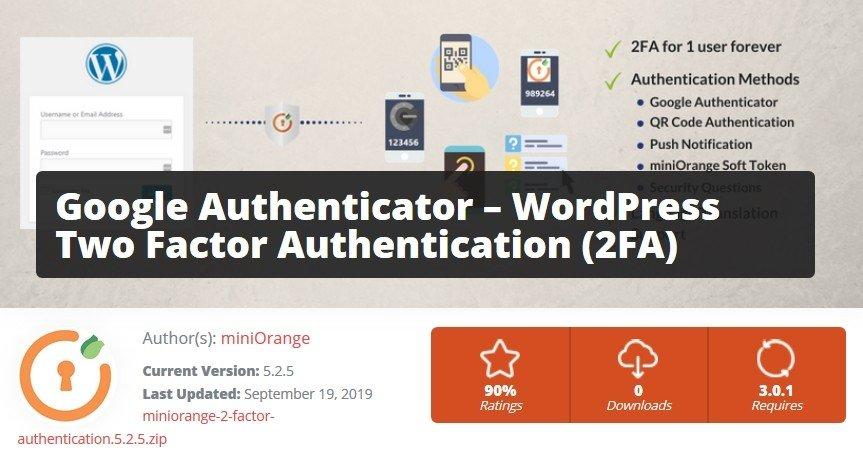 Plugin Google Authenticator pour authentification à deux facteurs dans WordPress