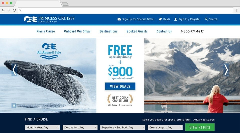 Le site Princes Cruises utilise Headless CMS