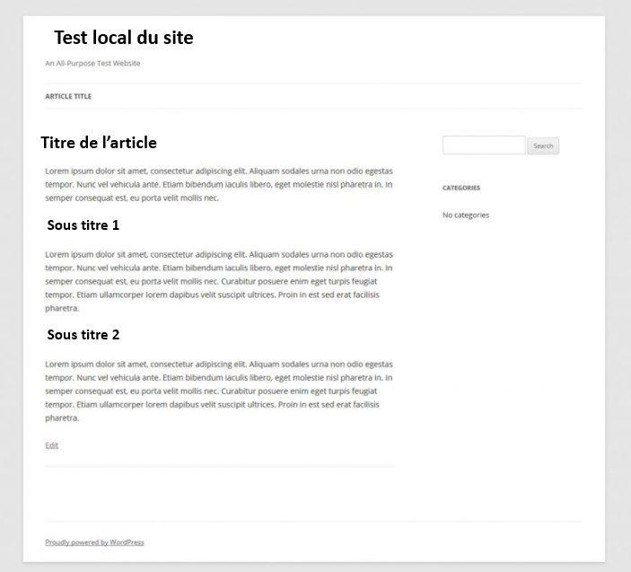 Un espace de plus est ajouté en  top et en bas de la page WordPress