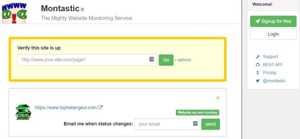 Montastic pour monitorer la disponibilité de votre site