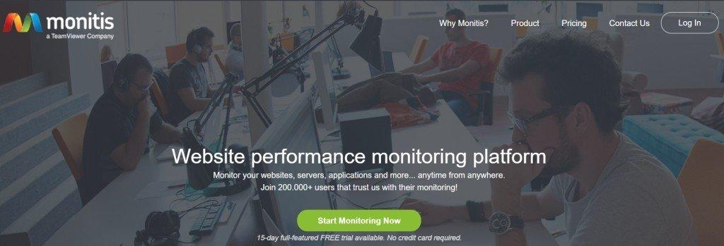 L'outil de surveillance de site web Monitis