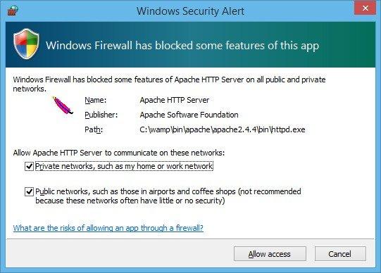 Ajouter l'exception de sécurité dans le pare-feu Windows