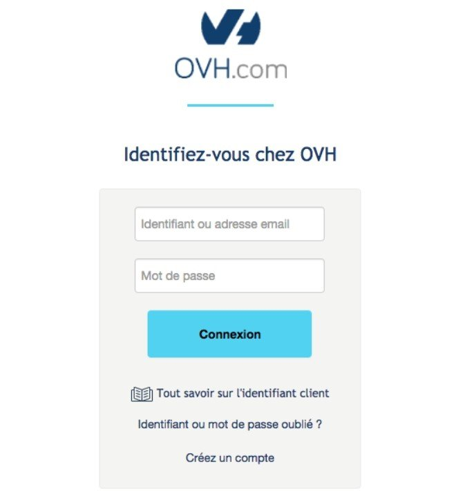 Connexion OVH