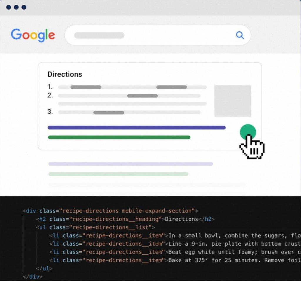 Exemple schema recherche Google