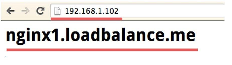 Nginx serveur 1 load balancing