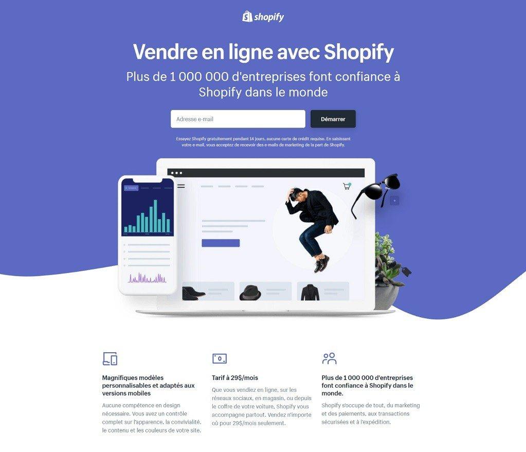 Shopify pour créer des site ecommerce