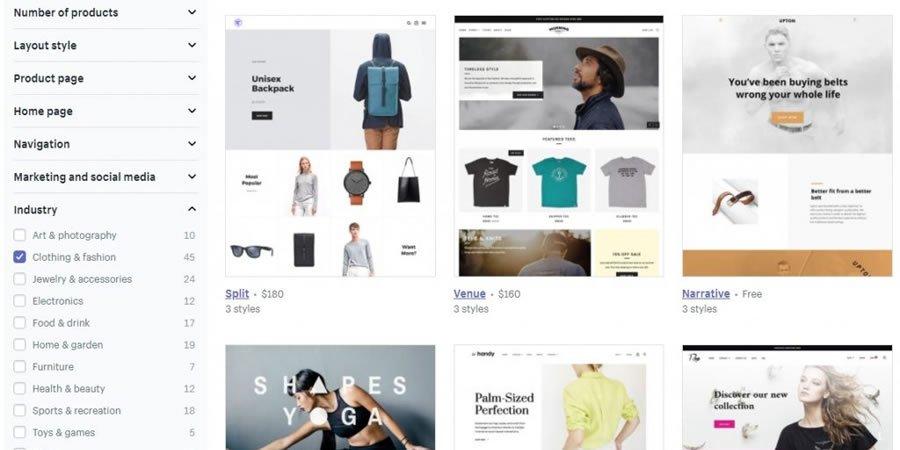 thèmes Shopify