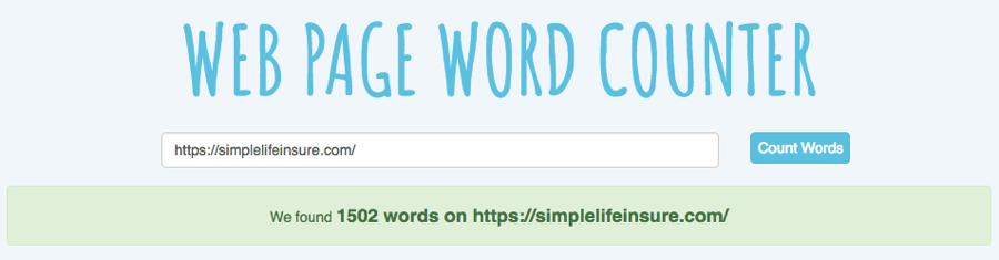 Vérifier le nombre de mots