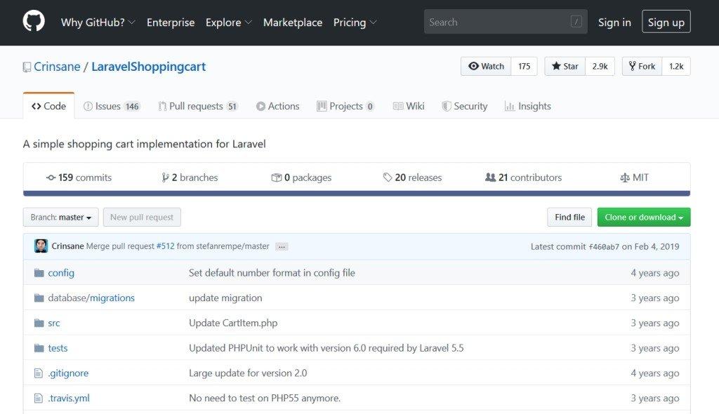LaravelShoppingcart (panier)