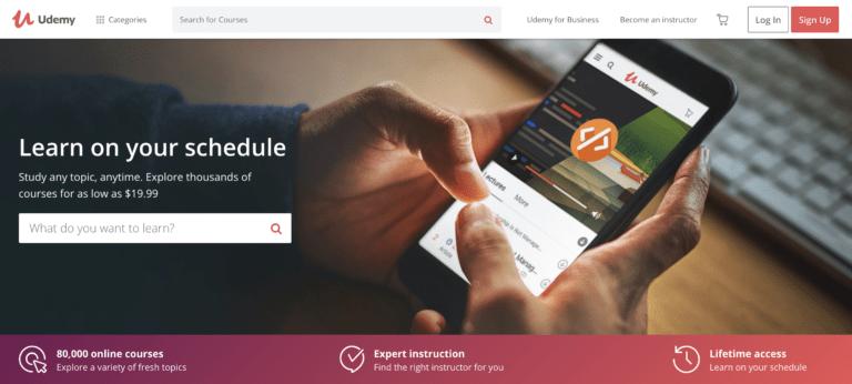 Créer des cours en ligne sur Udemy
