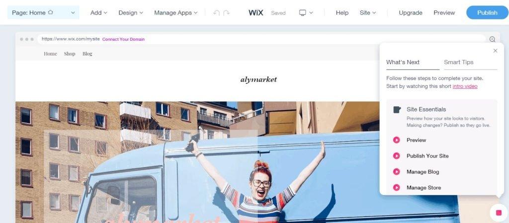 Accueil Alymarket Wix