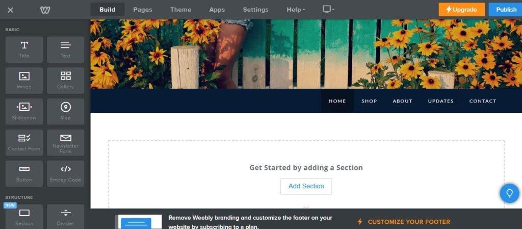 Construire un site e-commerce avec Weebly