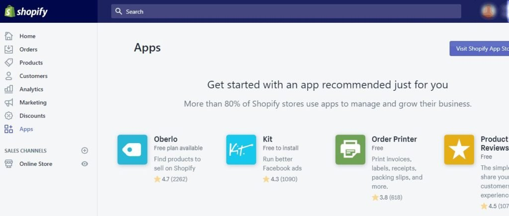 Applications Shopify