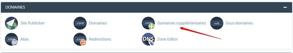 Ajouter un nom de domaine dans cPanel