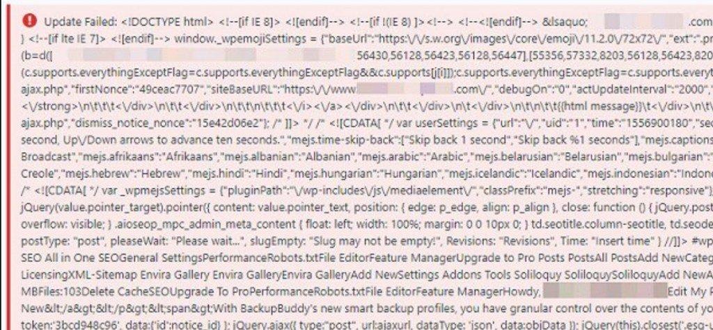 Code avec des erreurs