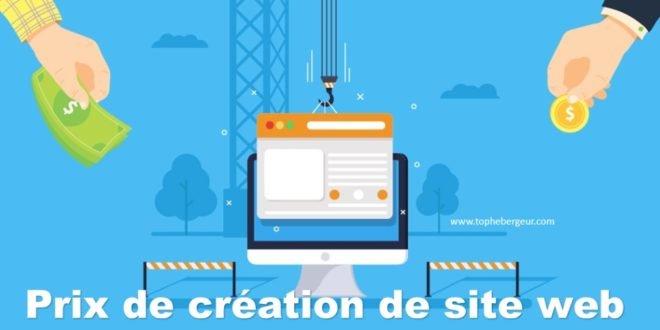 Prix création de site web