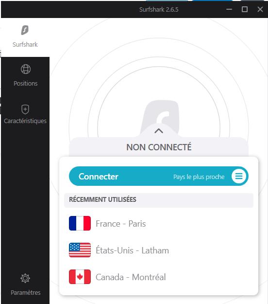 VPN Surfshark - application