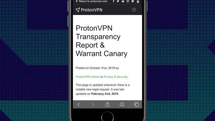 Rapport de transparence sur l'application ProtonVPN