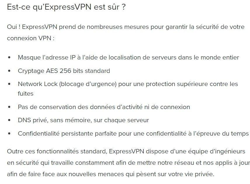 Est-ce que Express VPN est sécuritaire