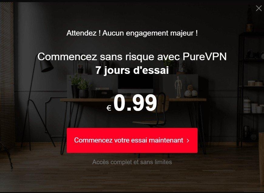 offre Promo PureVPN : 0.99 Euros / mois