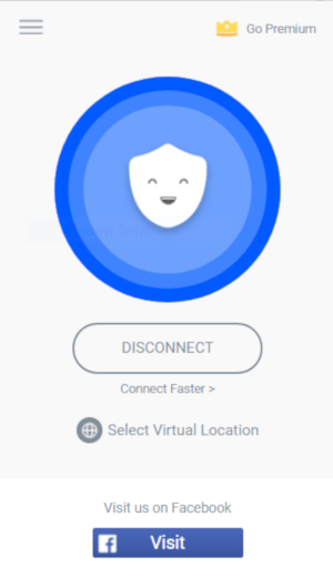 Capture d'écran de l'extension de navigateur Betternet
