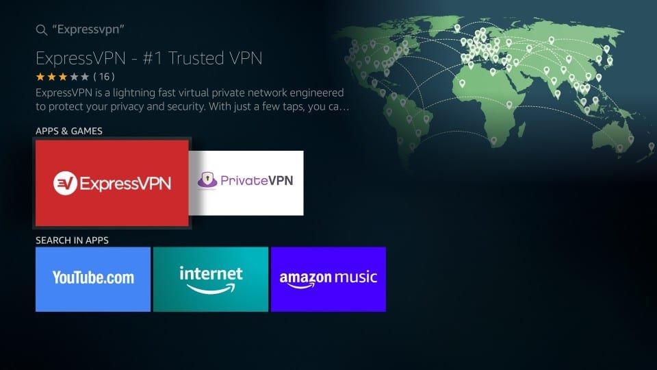 Cliquer sur le logo ExpressVPN