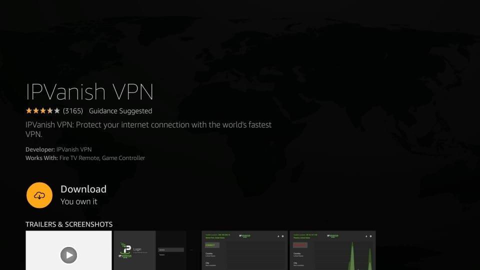 Cliquez sur l'icône IPVanish