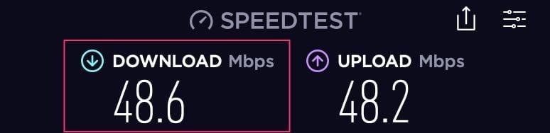 test Vitesse de connexion d'origine sans VPNvitesse vpn Firestick