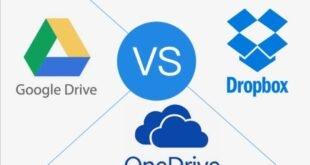 GoogleDrive Vs DropBox Vs OneDrive