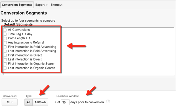 Segments conversion Google analytique