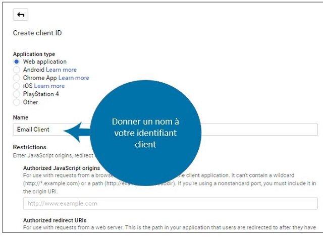 Configurer Client Email