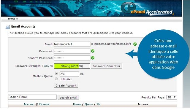 configuration email dans cPanel