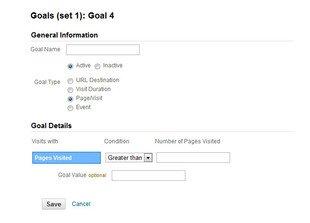 Ajouter un Goal nombre de pages visitées dans Google analytics