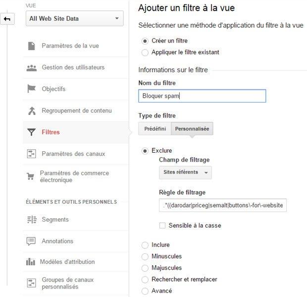 Comment bloquer tous les sites référants spam dans Google Analytics