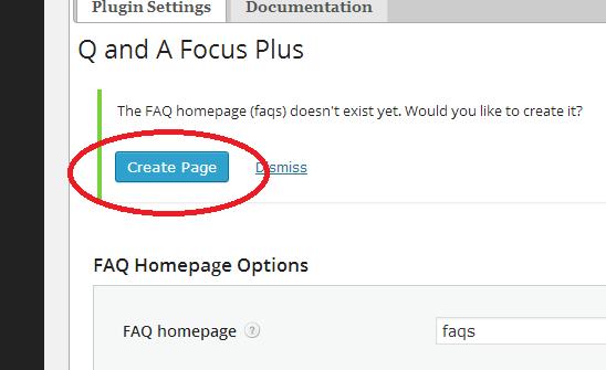 créer une page par défaut pour FAQ dans Wordpress