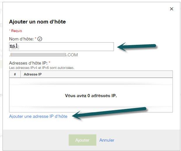 Ajouter un DNS privé chez Godaddy