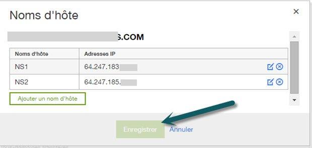 Enregistré un DNS privé chez Godaddy