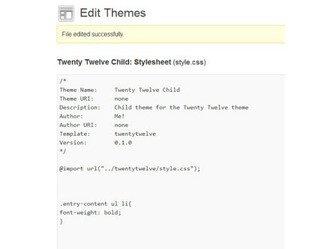 feuille de style wordpress listes à puce