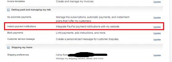 Notifications de paiement instantané