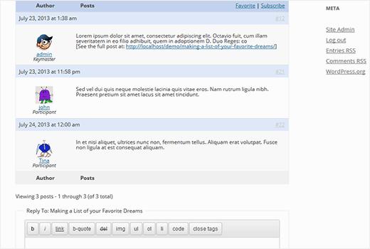 Ajouter les réponses de bbpress dans les articles wordpress