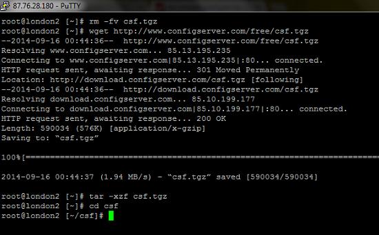 Télécharger Configserver avec commandes SSH