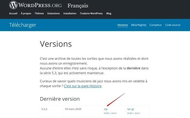 Téléchager Wordpress Fr