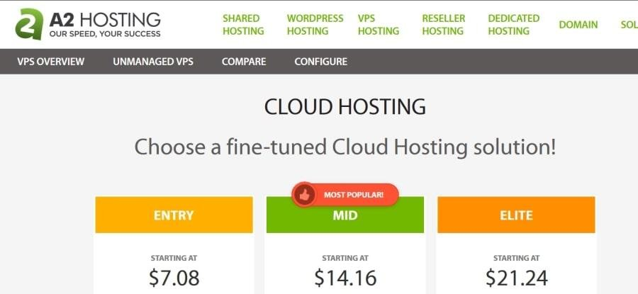 a2hosting cloud