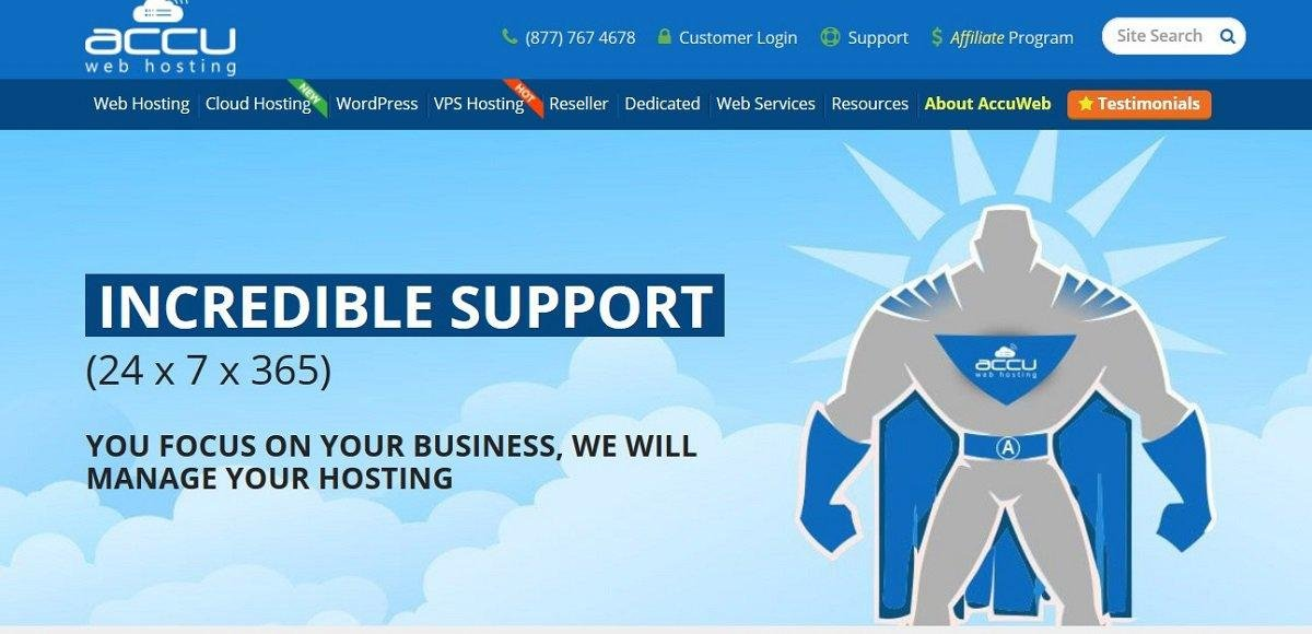 AccuWebhosting Service client