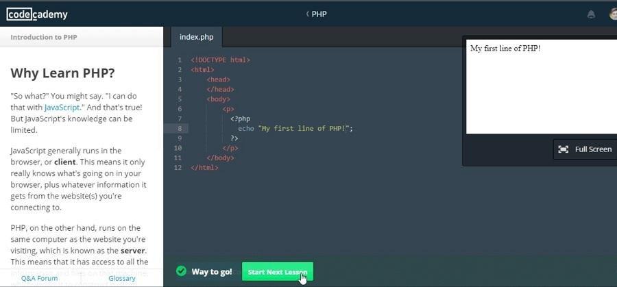 Drupal est construit avec PHP