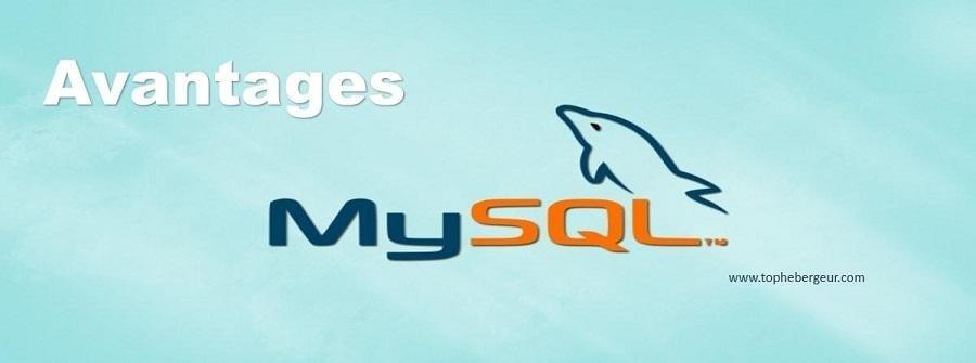 Avantages hébergement base de données MySQL