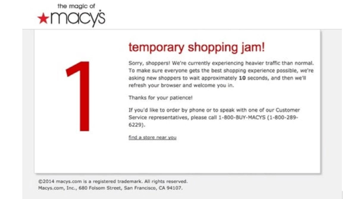 Crash du site Macys