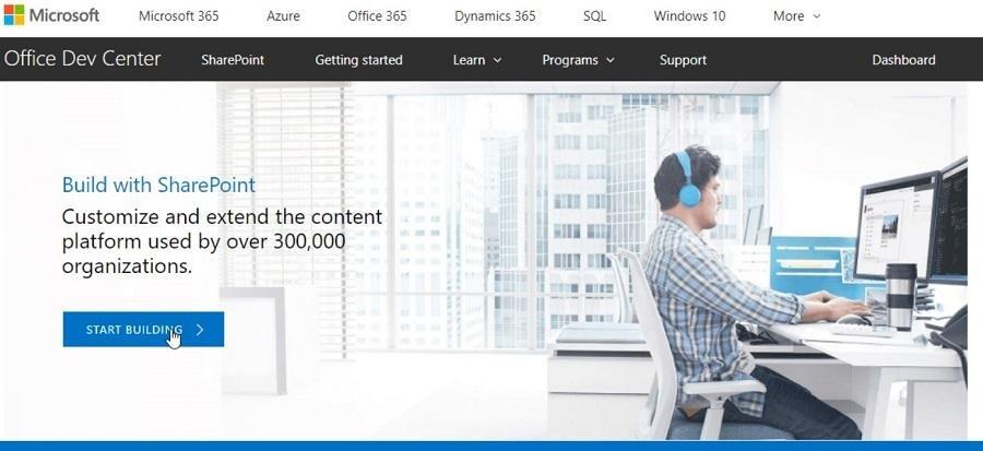 Création de site web avec SharePoint