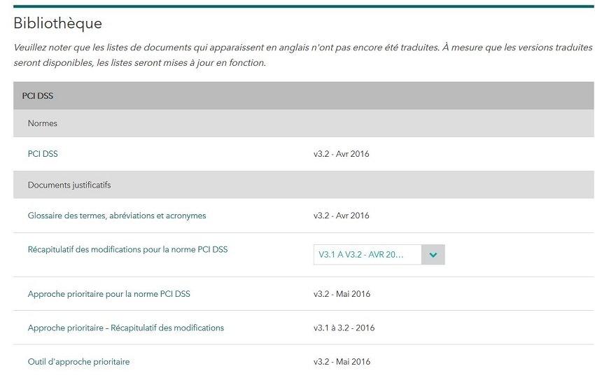 Documentation PCI-DSS